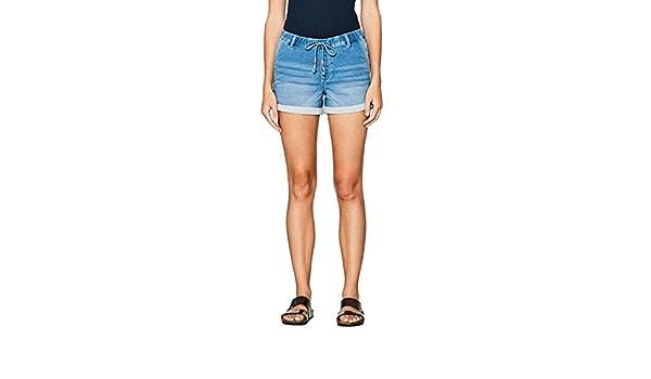 edc by ESPRIT Damen 067CC1C005 Shorts, Blau (Blue Medium