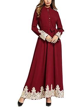 Zhhlaixing Kimono Maxi Dubai Abito Abaya Abbigliamento Islamico Abiti in  Chiffon per le Donne Party Lungo 09da3a45f42