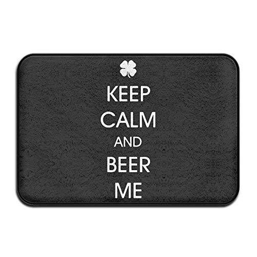 Sunny R Keep Calm and Beer Me Entrada Duradera Felpudo