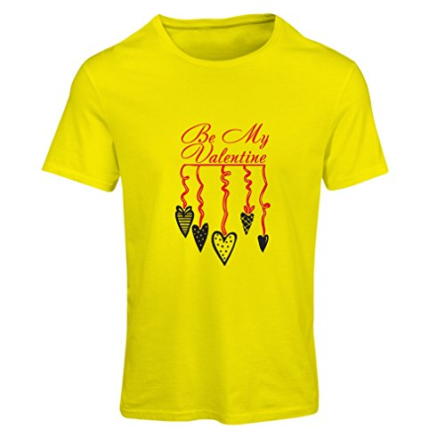 Frauen T-Shirt Seien Sie Mein Valentinsgruß - Liebe Sie zitiert, Valentinstaggeschenke (X-Large Gelb Rote)