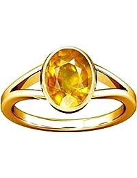 Divya Shakti 9.25-9.50 Carat Bague Saphir Jaune (Pukhraj Stone Panchadhatu Bague) 100% Pierre Naturelle de qualité AAA Naturelle Originale