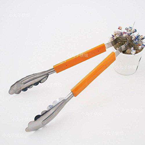 Xing lin pinza per spaghetti il cibo la fascetta in plastica del pane a mano ispessita multifunzionale cestello in acciaio inossidabile per alimenti clip,arancione in acciaio inox
