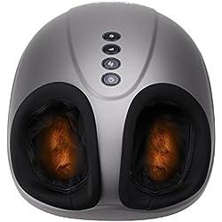 MARNUR Appareil Massage Pied Masseur Shiatsu Chauffant Massage Electrique avec Roulant et Pression d'Air pour Relaxation à la Maison et au Bureau