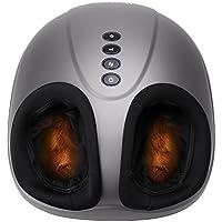 MARNUR Fußmassagegerät Elektrisch mit Wärmefunktion Shiatsu Fussmassage Kneten Klopf Füße mit Rollen & Luftkompression für Zuhause Büro