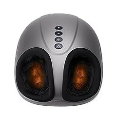 Idea Regalo - MARNUR Massaggiatore Piedi Shiatsu Pedana Massaggio Plantare Elettrico con Calore Rolling e Compressione d'aria per Casa Ufficio