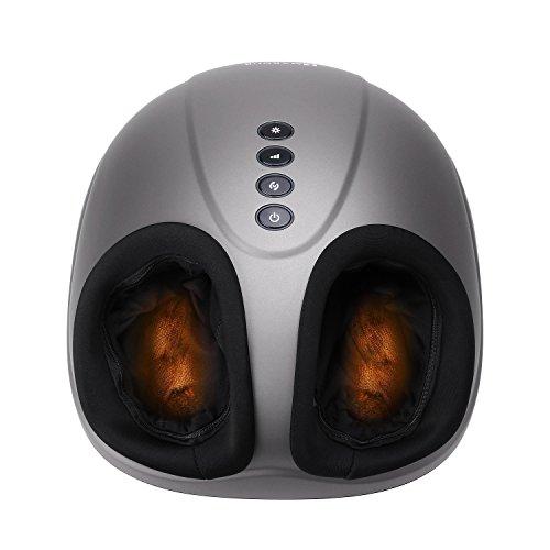 elektrisches fussmassagegeraet MARNUR Fußmassagegerät Elektrisch mit Wärmefunktion Shiatsu Fussmassage Kneten Klopf Füße mit Rollen & Luftkompression für Zuhause Büro