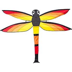 In Vento GmbH Invento 105104-Dragonfly Kite (Libélula), niños Dragón einleiner, a Partir de 5años, 110x 140cm poliéster Ripstop 1,5-4Beaufort