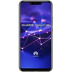 "Huawei Mate 20 Lite - Smartphone Dual SIM de 6.3"" Full HD (Kirin 710, 4 GB de RAM, 64 GB de memoria interna, cámara dual de 24 + 2 MP) negro"