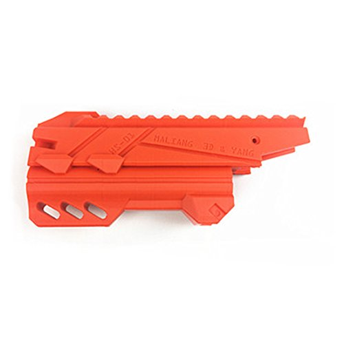 15000P 3d Impresión Tuning piezas Tubo delantero para Nerf Zombie Strike Martillo Shot Blaster, naranja, 10 x 3,7 x 3,2 cm