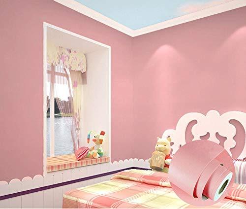 Xiaojie0104 carta da parati autoadesiva in puro pigmento color pvc impermeabile adesivi istantanei adesivi camera da letto carta da paratiautoadesiva, elegante rosa cipria 60cm*1m
