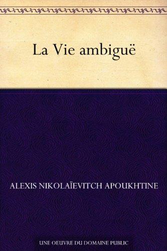 Livres La Vie ambiguë pdf, epub