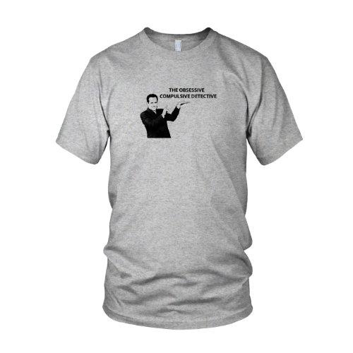 Kostüm Monk Adrian - The Obsessive Compulsive Detective - Herren T-Shirt, Größe: S, Farbe: grau meliert