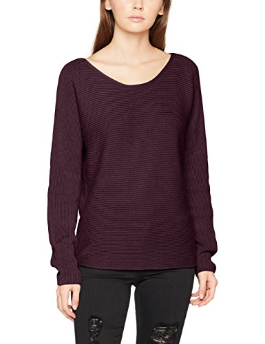 Mavi Damen Pullover Long Sleeve Sweater, Rot (Weinrot 24381), Small