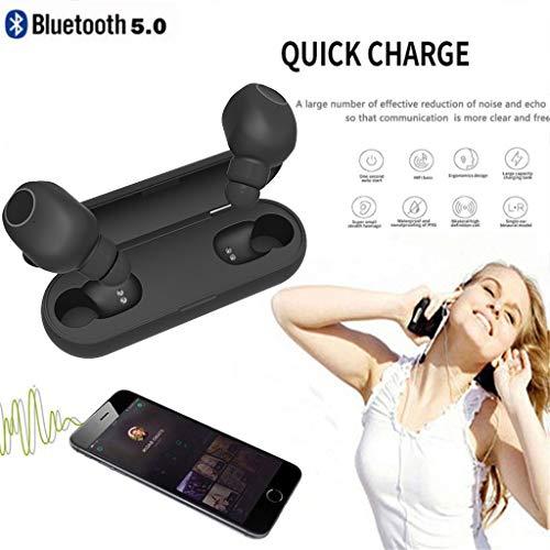 Webla Auricolare Bluetooth - Cuffie Auricolari Sub woofer con Auricolari Bluetooth Wireless Gemelli Impermeabili