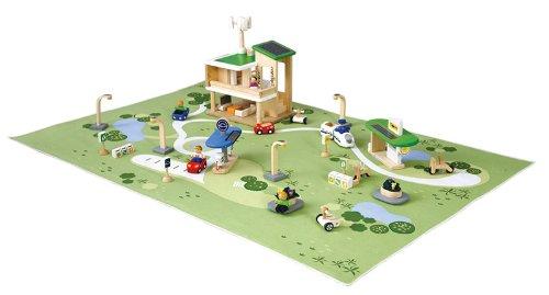 PlanToys - PT6228 - Jouet en bois - Véhicule - Ville Ecologique