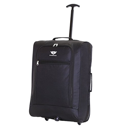 Slimbridge Montecorto super leggero 55 cm bagaglio a mano con ruote, Nero