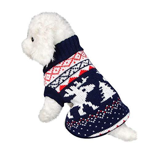 (Dragon868 Hund Pullover Warm Haustierhubstoffkatze Winter Warm Turtleneck Sweater Coat Kostüm Bekleidung)