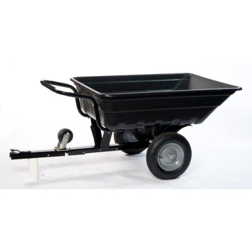 Remolque / carretilla para tractores, cortacéspedes o quads.La carretilla basculante facilita el vaciado del contenido.Fabricada en plástico, te permite transportar de todo en el jardín: madera, tierra, herramientas, plantas.Con una carga útil de 250...