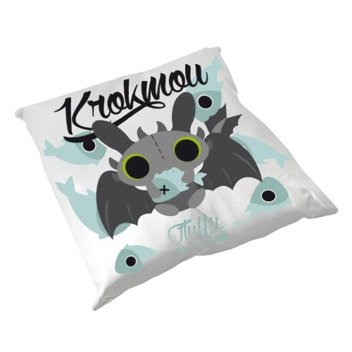 Coussin Fluffy Chamalow Dragon Krokmou Chibi Kawaii fish - Fabriqué en France - Chamalow Shop