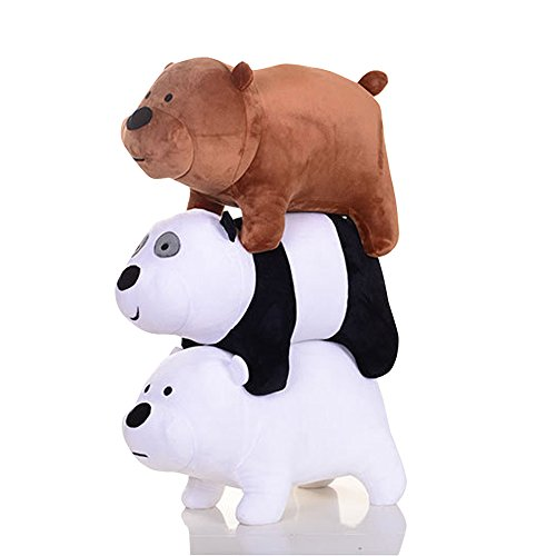 3pcs-set-plush-toy-grizzly-panda-ice-bear-stuffed-soft-doll-12x25cm