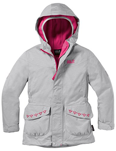 Jack Wolfskin Mädchen Snowy Trail Girls 3-in-1 Jacke, Grey Heather, 164