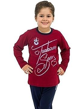 Trabzonspor Kinder Mädchen Pyjama Bordeaux Blau