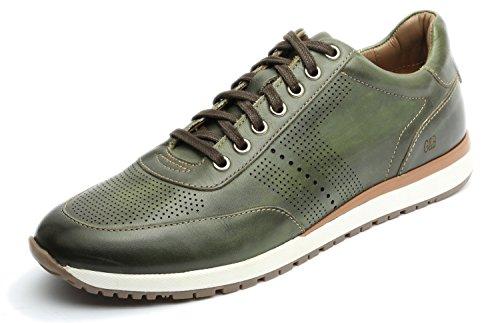 Gordon & Bros Herrenschuhe Conte S150210 Eleganter und hochwertiger Herren Leder Sneaker, Schnürhalbschuh, Profilsohle für Anzug, Business und Freizeit Grün (Green), EU (Herren Anzug Grünen)