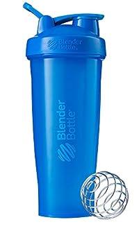 BlenderBottle C01639 Plastic Classic Loop Top Shaker Bottle, 945 ml (Cyan)