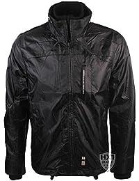 Mens Branded Crosshatch Winston Black Double Zip Jacket Sizes S-XXL