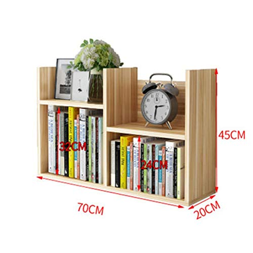 Bücherregale Sammlung Rack Toy Cabinet Storage Shelf Zeitungsständer Aufbewahrungsbox Regal Holz HUYP (Color : Khaki) -