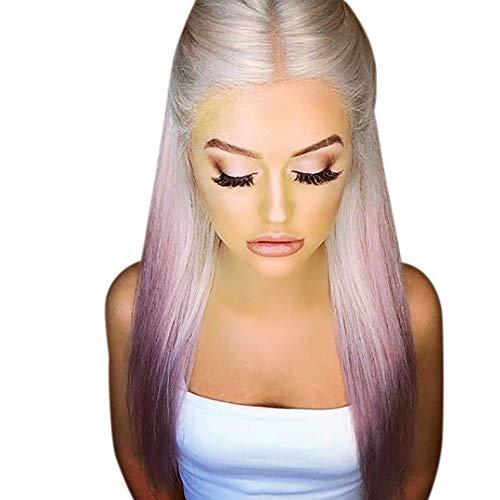 Perruque Femme naturelle, feiXIANG femmes haute qualité dégradé Perruque Pour femmes Perruque Cheveux ondulés Extensions de cheveux Long Complète bouclé ondulé Chaleur resistant Synthetique