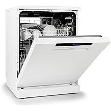 Klarstein Amazonia 60 lavavajillas clase A++ (1850 W, 12 cubiertos, programable, silencioso, eficiencia máxima de secado) - blanco