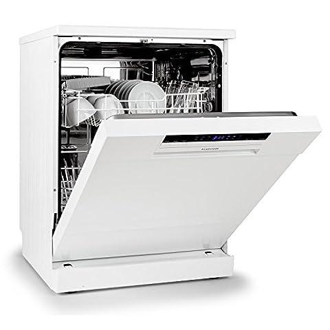 Klarstein Amazonia 60 Spülmaschine Geschirrspüler (1850 Watt, 60 cm breit, 12 Maßgedecke, geräuscharm, Startzeitvorwahl, 6 Programme, Aquastop)