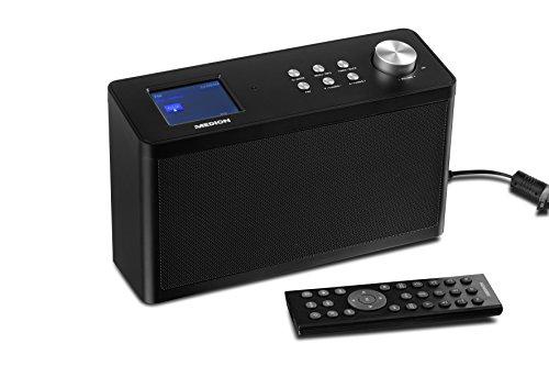 MEDION P85060 Küchen Internet Radio (Montage unter Küchenschränke, 15.000 Internetradiosender, Seperater Senderspeicher, Steuerung per App) schwarz - Elektroherd Knopf