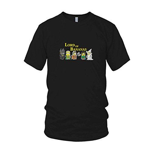 (Lord of Bananas - Herren T-Shirt, Größe: M, Farbe: schwarz)