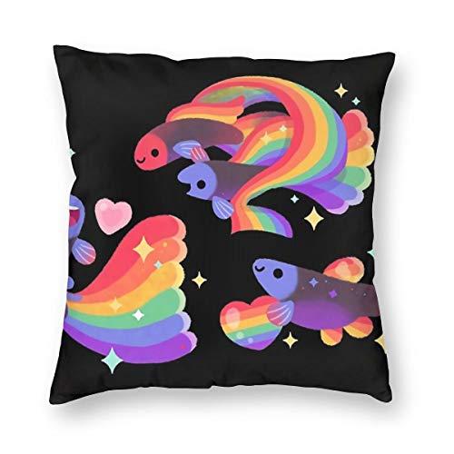 THsirtee Rainbow Guppy 5 Kissenbezug Kissenbezug Für Taille Hug Platz Kissenbezug Dekoration Home Deco 20