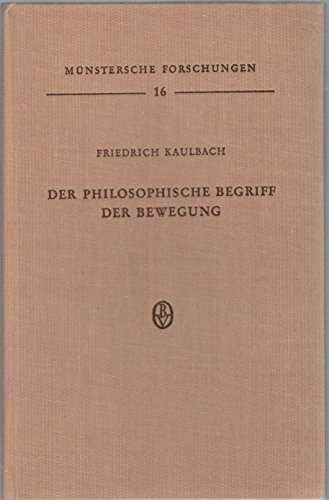 Der philosophische Begriff der Bewegung