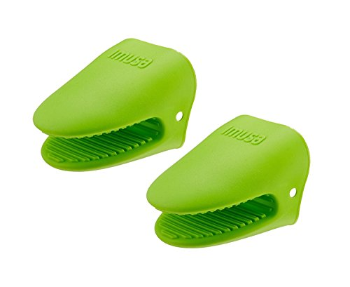 IMUSA Heat Resistant Silicone Mini Oven Mitts- 2pk, Cooking Pinch Mitts, Easy Gripping, Heat Resistant up to 500 degrees F, Great for Handling Hot Cookware & Pans, Lime Green