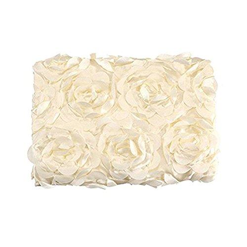 Newborn Fotografia Props fiore della Rosa del bambino Sfondo Blanket Rug (bianco)