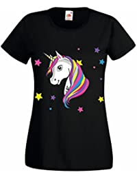 Amazon Fr Licorne T Shirts Tops Et Chemisiers Femme Vetements