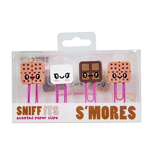 Scentco Sniff-Its Marshmallow S'Mores - Clips de Papel (4 Unidades)