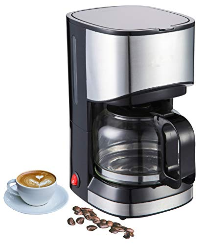 Edelstahldesign Kaffeemaschine | Filterkaffeemaschine | Kaffeefiltermaschine | Tropfstopp-Funktion |...