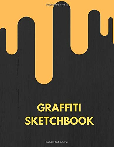 Graffiti Sketchbook: 120 Blank Pages For a Graffiti Artist Sketches Or Drawings. Perfect For A Gift - Street Wall Tapestry