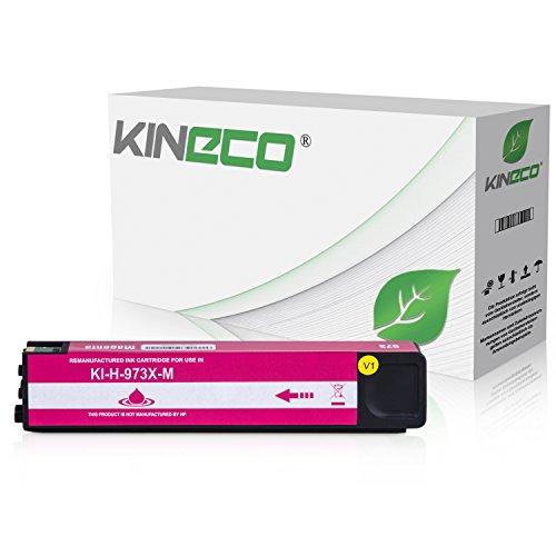 Kineco Tintenpatrone kompatibel zu HP 973X für PageWide Pro 452dn 452dw 452dwt 477dn 477dw 477dwt 552dw 577dw 577z - Magenta -