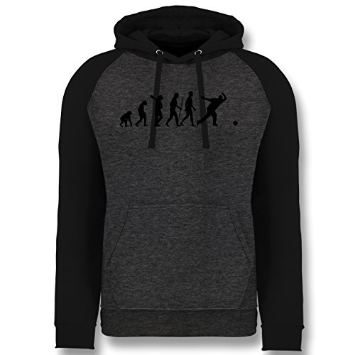Evolution - Bowling & Kegel Evolution - S - Anthrazit meliert/Schwarz - JH009 - Baseball Hoodie -