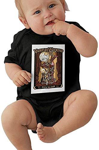 Icndpshorts Vampire Weekend Novelty Black Short Sleeve Baby Bodysuit 6M