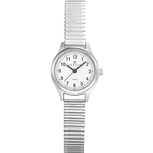 Certus 621340 – Ladies Watch – Analogue Quartz – White Dial – Silver Metal Strap