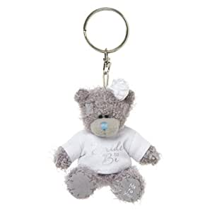 Me to You 3-inch Tatty Teddy Bear 'Bride to Be' Keyring (Grey)