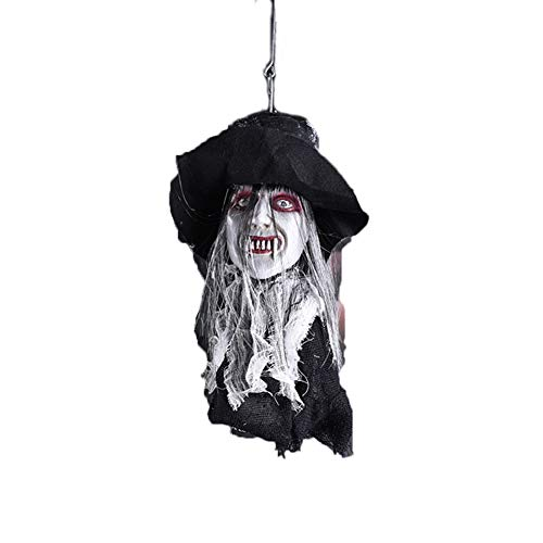 MTSBW Halloween Ghost Festival Horror Requisiten Spukhaus Kammer Bar Kopf Bräutigam Braut Hanging Electric,Bride