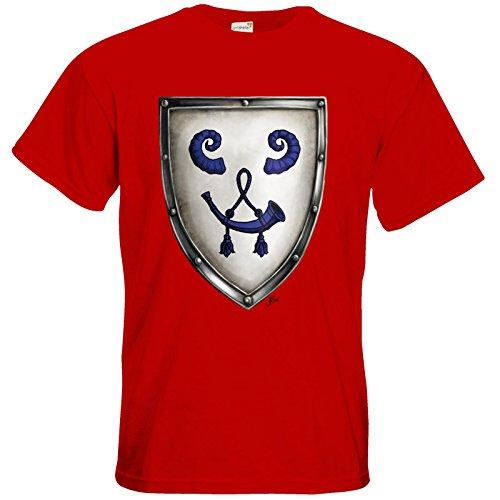 getshirts - Das Schwarze Auge - T-Shirt - Die Siebenwindküste - Wappen - Bockshag Red